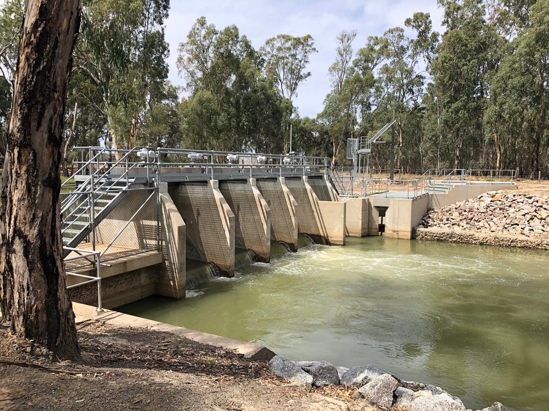 Yallakool Creek Weir & weir pool